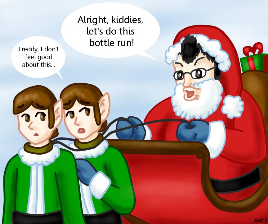 Markiplier as Santa Claus in Happy Wheels by hotcheeto89 ...