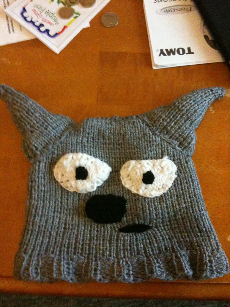 Knitting Pattern For Totoro Hat : Totoro Adult loom knitted hat by almightyraz on DeviantArt