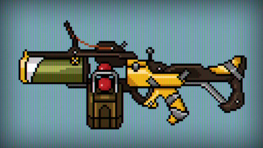 Junkrat's Gun Pixelized by kerward