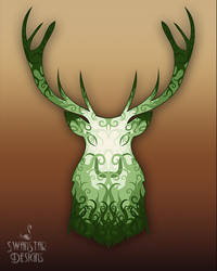 Green Stag by SwanStarDesigns