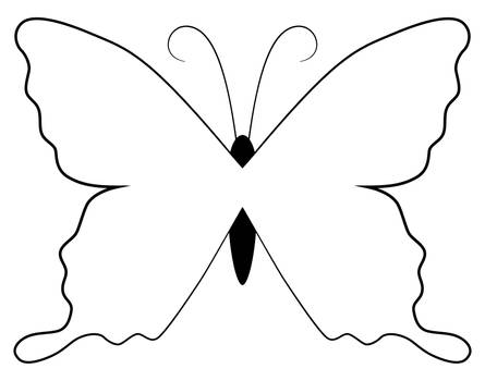Butterfly lineart colouring page