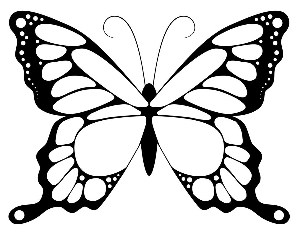 Butterfly detailed lineart colouring page by SwanStarDesigns