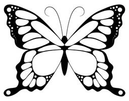 Butterfly detailed lineart colouring page