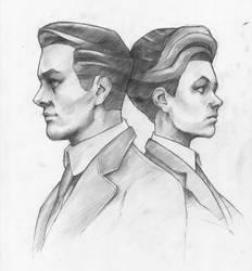 Robert and Rosalind Lutece by ilyakurchatov