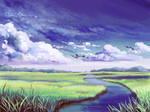 River in Grassland