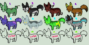 Halloween Wolf Adoptables OPEN