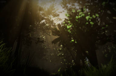 Rainforest Scene in Unreal Engine 4 by LeuAlex