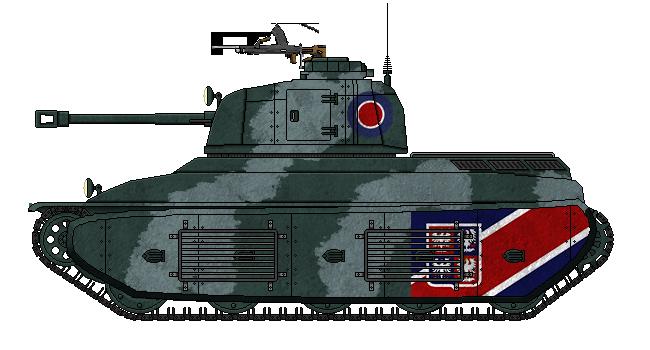 Fortnum F2 Medium Tank by AdmiralSerenity