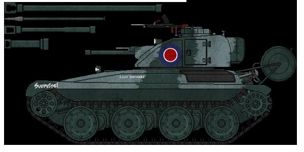 [ALC] 'Baselard' Mk.I Light Tank by AdmiralSerenity