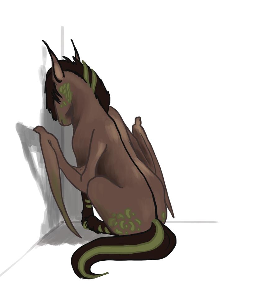Sad stupid pony by LeszkaKsawery