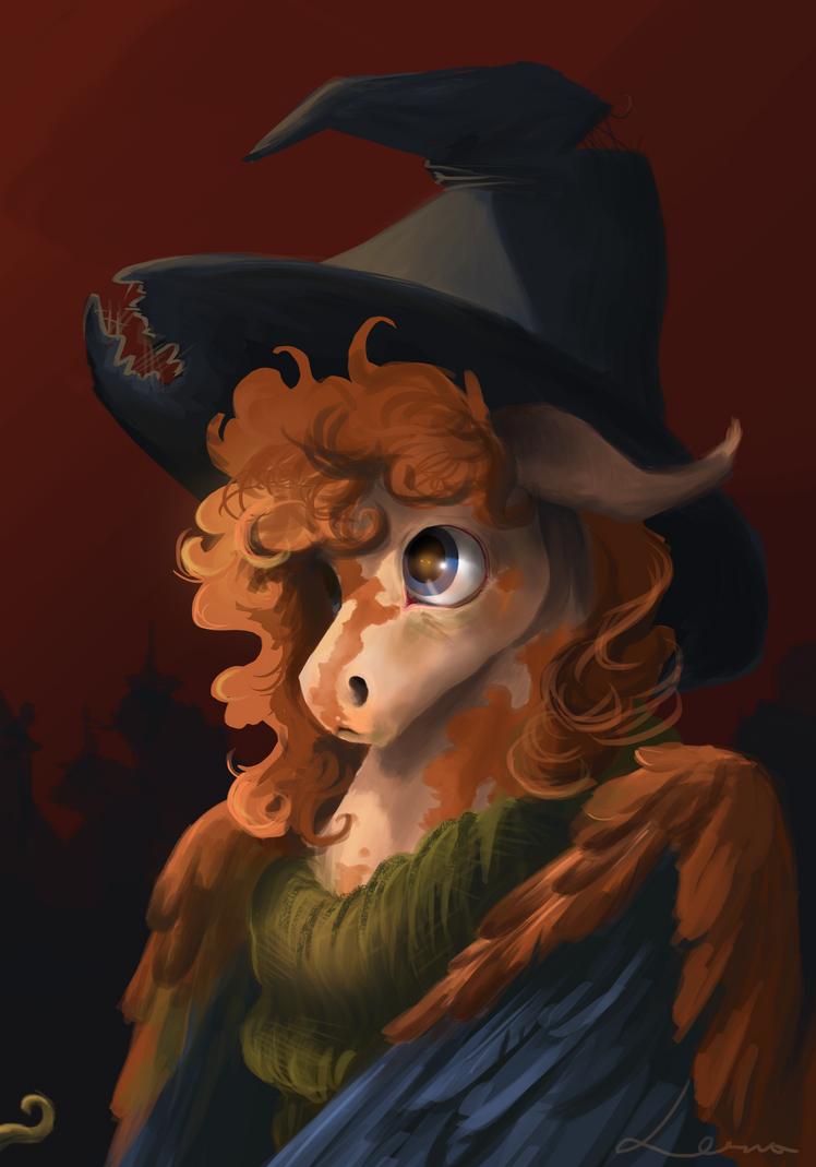 Pumpkin witch by LeszkaKsawery
