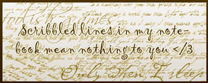 Quote: Scribbled Lines