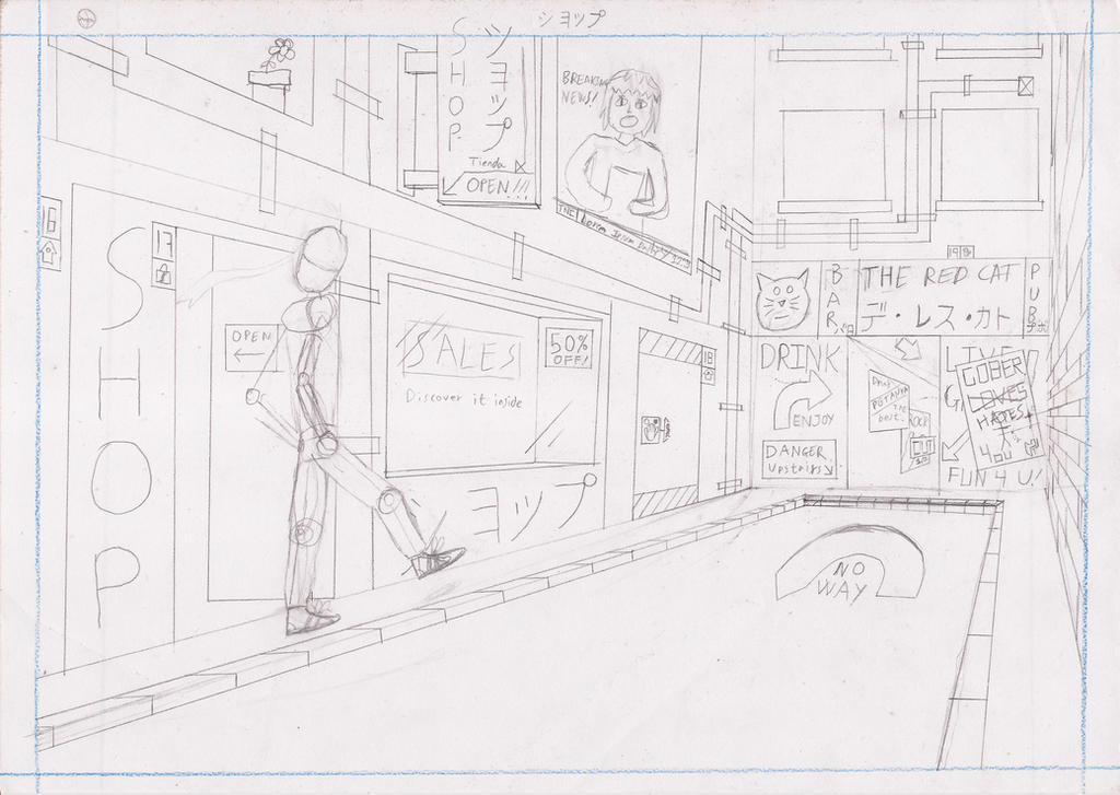 [Illust. Course] A Street by Darutik