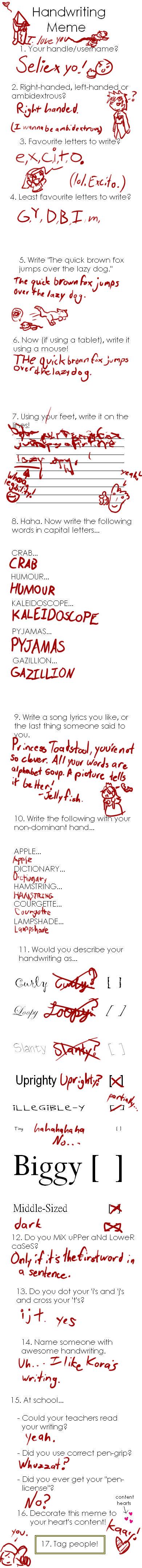 Handwriting Meme by Seliex