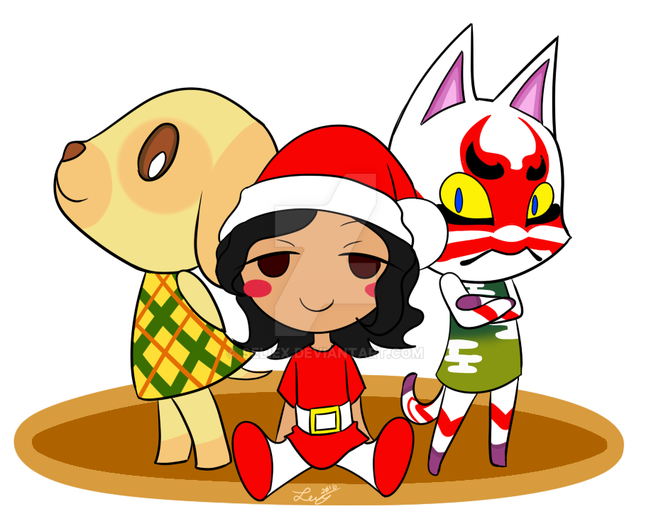 Animal Crossing Christmas 2016 by Seliex