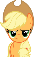 Applejack is not amused by GameMasterLuna