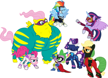 Power Ponies saves the day by GameMasterLuna