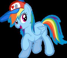 Rainbow Dash (I Love Manehattan edition) by GameMasterLuna