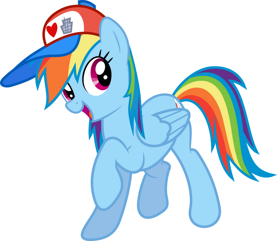 Rainbow dash i love manehattan edition by gamemasterluna on
