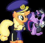 Colonel Applejack and Commander Twilight