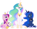 Three very unhappy princesses