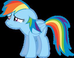 A Heartbroken Rainbow Dash by GameMasterLuna