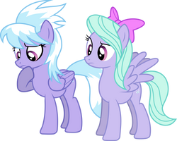 Flitter and Cloudchaser Puzzled by GameMasterLuna