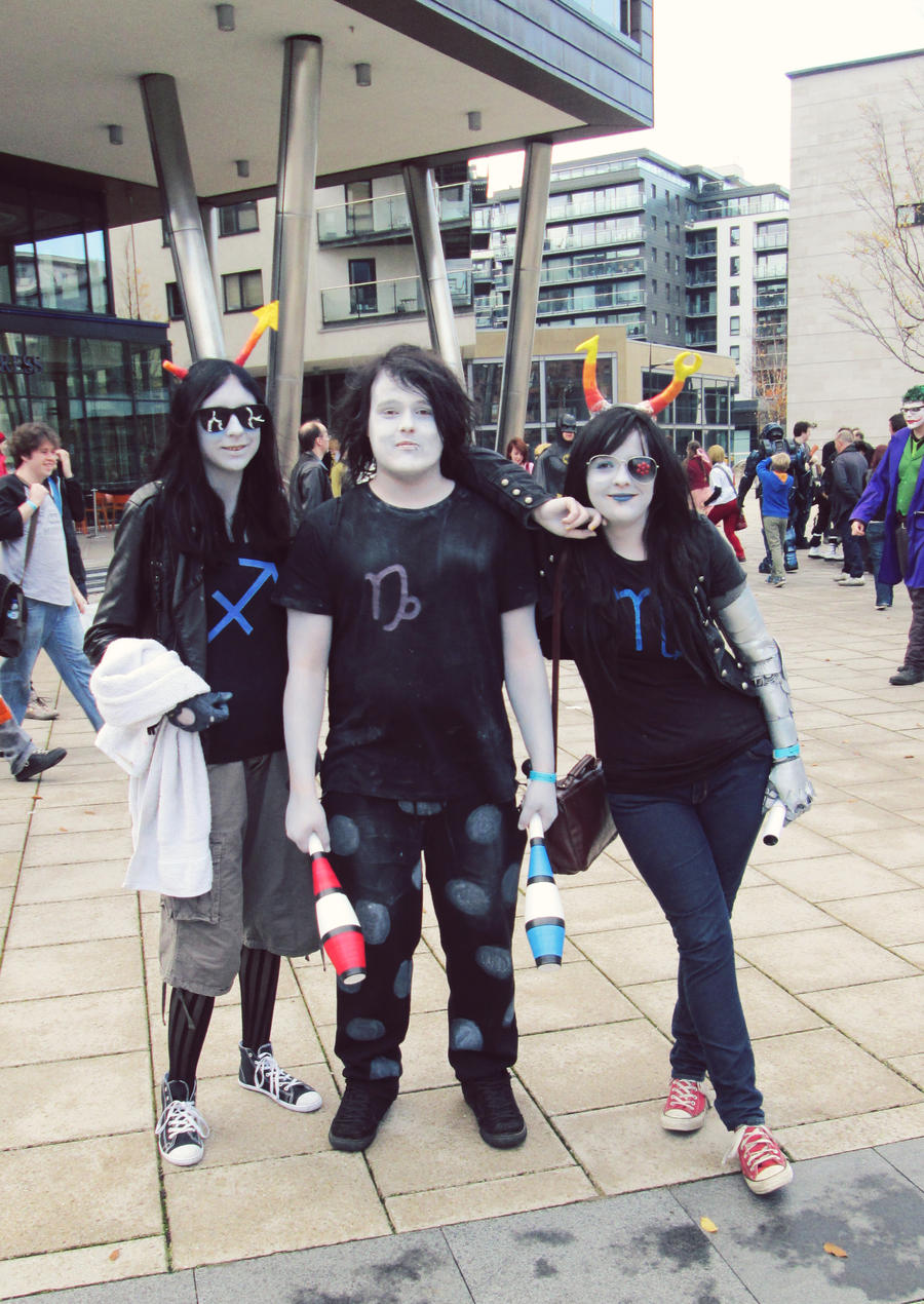 Equius, Gamzee and Vriska by Meeleb2
