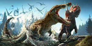Extreme Deinosuchus Pwnelage by greeni-studio