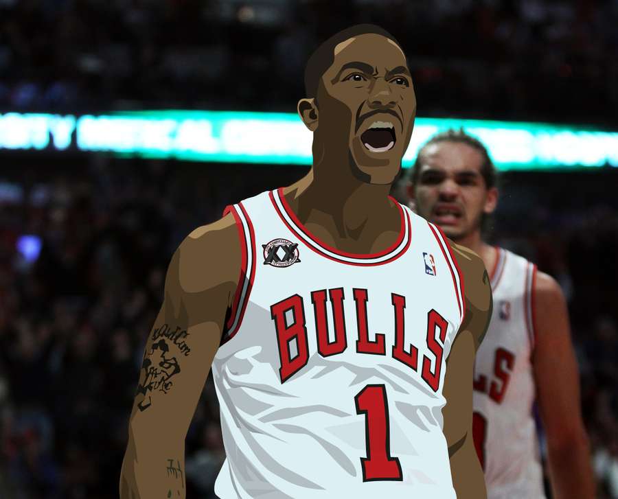 Derrick Rose Logo Vector Derrick Rose Vector by