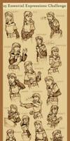 Tareth - 25 Expressions by Shazzbaa