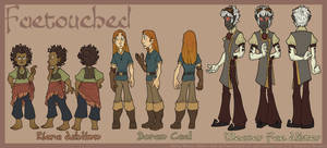 FaeTouched Characters by Shazzbaa