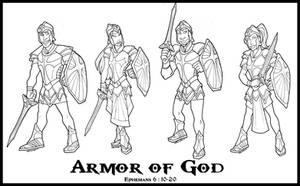 Armour of God Designs by Shazzbaa