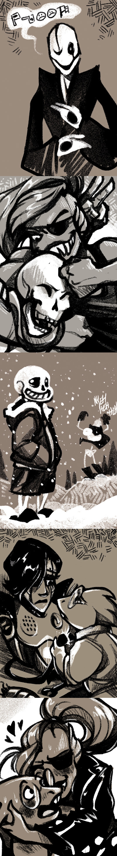 Undertale Toned Sketches by Shazzbaa