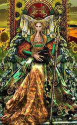 Queen of Wands revised by Elric2012