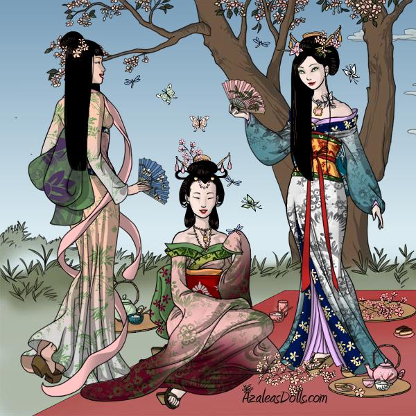 Geishas at dawn by ghost13warrior