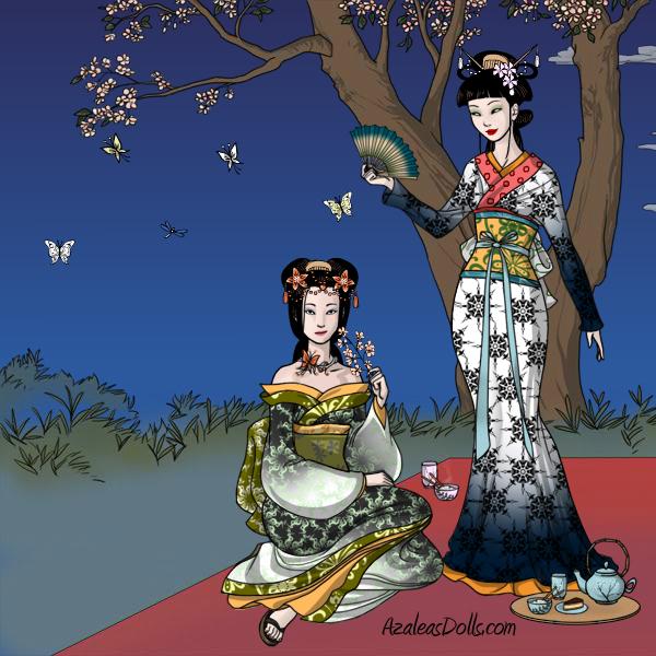 Geisha under the night by ghost13warrior