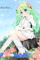 Pokemon Shaymin's personification by rinro-r