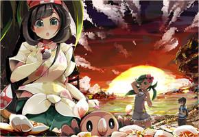 Pokemon sun/moon by rinro-r