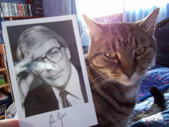 John Major and Cat by shardyhaha