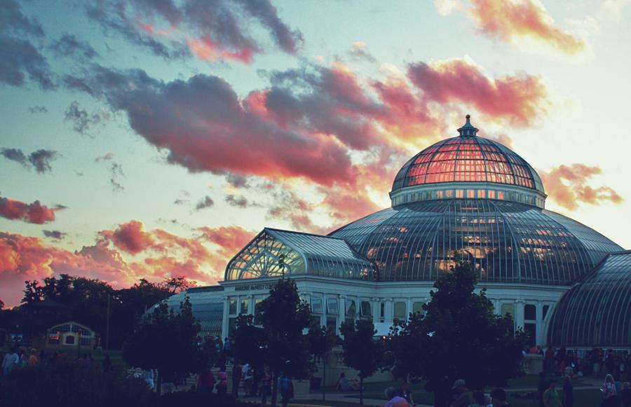 Conservatory at Sunset by Sarafu-Xangan