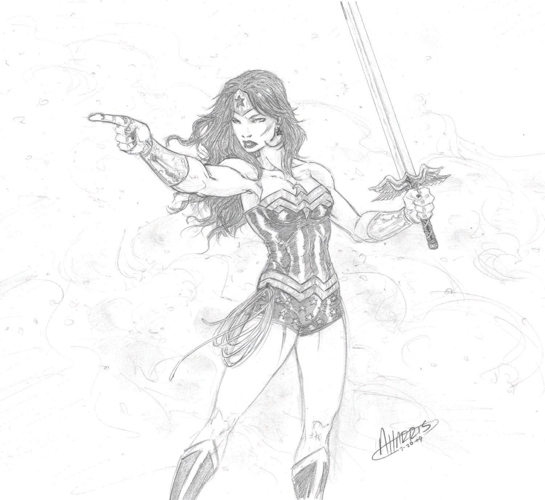 Wonder Woman sketch by anthonyharrisart