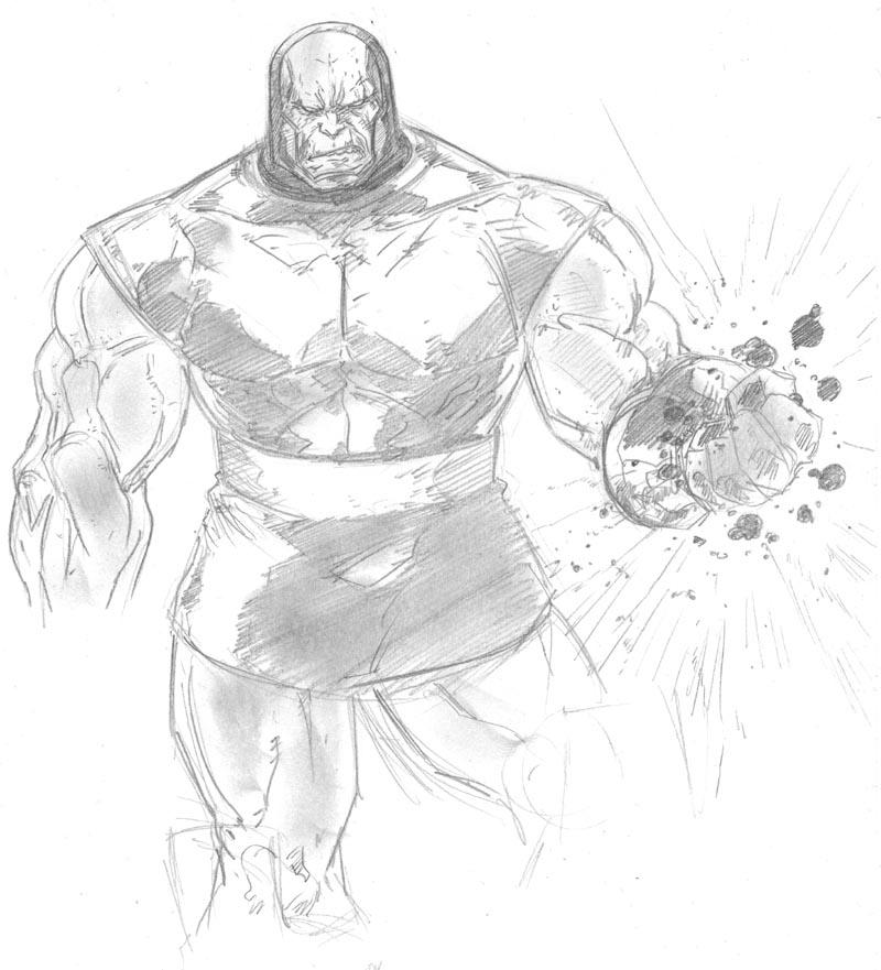 Darkseid 30 min sketch by anthonyharrisart