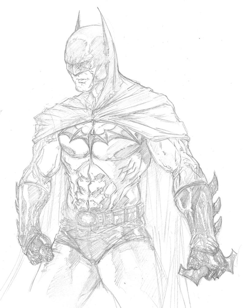 Batman warm-up sketch by anthonyharrisart