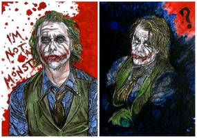 The Joker sketch cards.... WHY SO SERIOUS? by adamreese2006