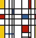 Piet Mondrian seamless tile