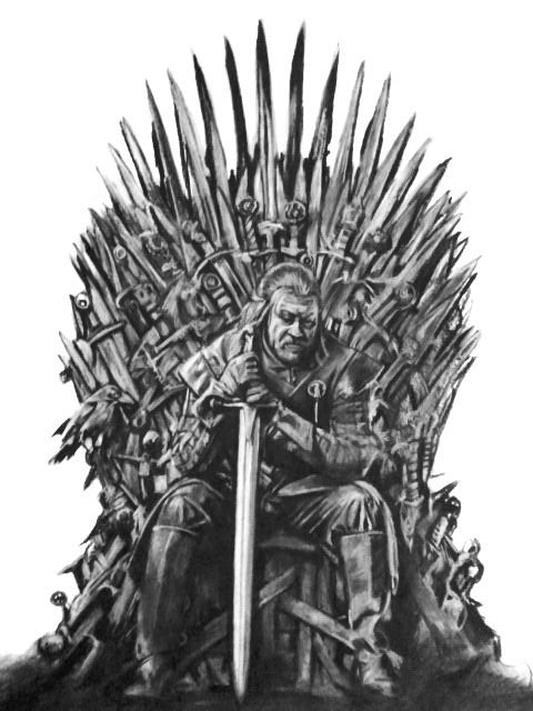 Iron Throne Silhouette Ned Stark on the Iron ...