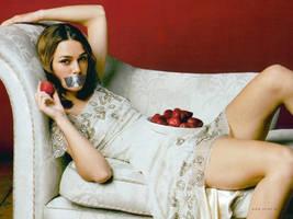 Keira Knightley Gagged 3 by N099ER