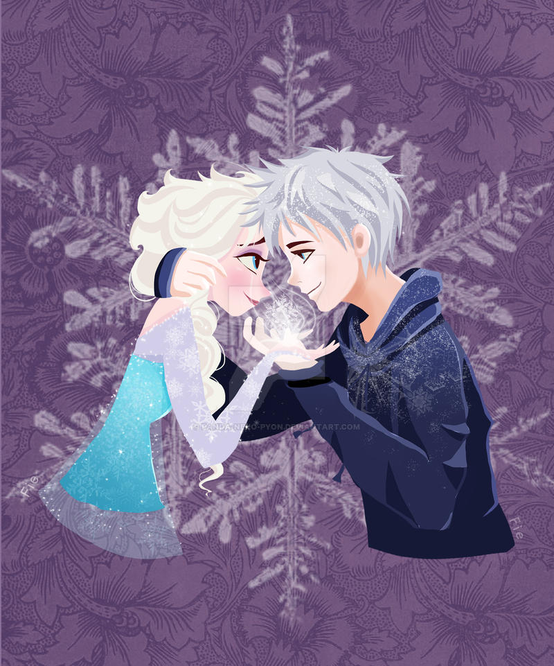 Let's frost the world together! (Elsa and Jack) by Panda-neko-pyon