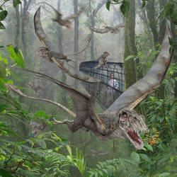 Dimorphodon of Jurassic World by urbnvampslayer
